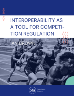Interoperability as a tool for competition regulation