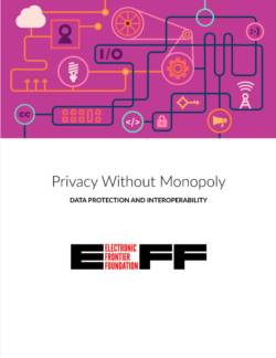 Privacy without monopoly