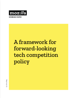 A framework for forward-looking tech competition policy